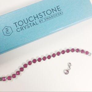 Pink Touchstone Crystal by Swarvoski Ice Bracelet